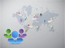 Social media marketing team concept Stock Photos