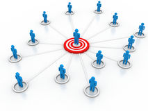Social Media Marketing. On white background Stock Photo
