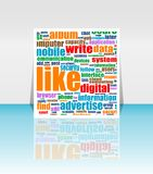 Social media Marketing - Word Cloud Stock Image