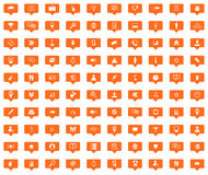 Social media message icons set Stock Photography