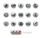 Social Media // Metal Button Series Royalty Free Stock Images