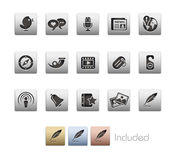 Social Media // Metallic Series Royalty Free Stock Image