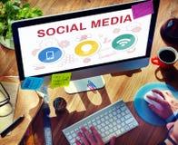 Social Media Mobile Lightbulb Wifi Concept Stock Photography