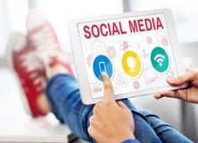 Social Media Mobile Lightbulb Wifi Concept Royalty Free Stock Images