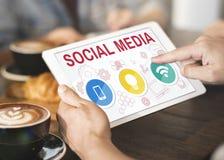 Social Media Mobile Lightbulb Wifi Concept Royalty Free Stock Image