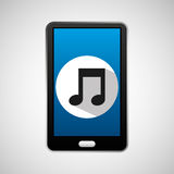 Social media mobile music icon Royalty Free Stock Images