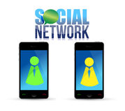 Social media mobile phone concept Stock Images