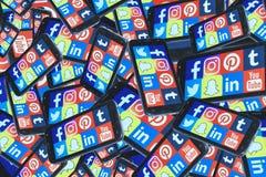 Social media Mobile Phone stock photo