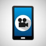 Social media mobile video movie. Vector illustration eps 10 Royalty Free Stock Image