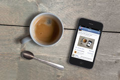 Social media morning Stock Photography