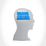 Social media on my mind illustration design Stock Photo