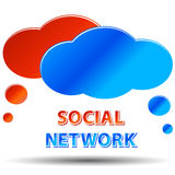 Social media network Royalty Free Stock Photos
