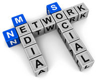 Social media network Stock Images