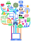 Social media network background Royalty Free Stock Images
