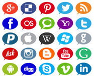 Social media,network,business and web icons Royalty Free Stock Photo