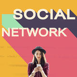Social Media Network Community Connection Chat Concept Royalty Free Stock Image
