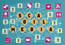 Social media. And social network concept Stock Photography