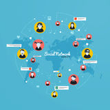 Social Media, Network concept. Flat design. Vector Stock Photography