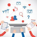 Social media network concept icon for your design. Stock Photos