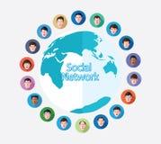 Social media network concept  illustration Royalty Free Stock Photo