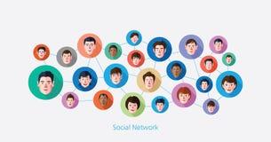 Social media network concept  illustration Royalty Free Stock Photos