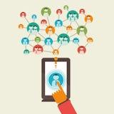 Social media network concept Stock Image