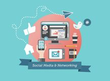 Social media and network concept vector Stock Image