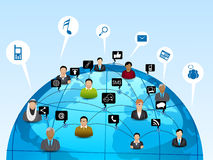 Social media network connection concept. Royalty Free Stock Images