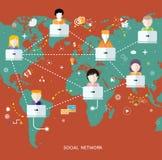 Social media network connection concept Royalty Free Stock Photos