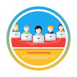 Social media network connection concept Stock Photography