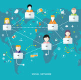 Social media network connection concept Royalty Free Stock Photo