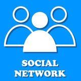 Social media network Stock Photo