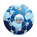 Social media network connection illustration Royalty Free Stock Photos