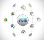 Social media network connection illustration Royalty Free Stock Images