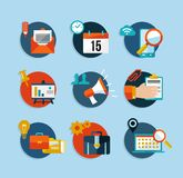 Social media network flat icons set Royalty Free Stock Image