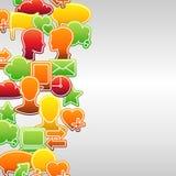 Social media network icon set seamless texture Stock Photo