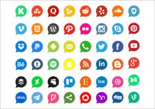 48 social media and network icon. Social technology and media icon set based on networking, available PNG file Royalty Free Stock Photography