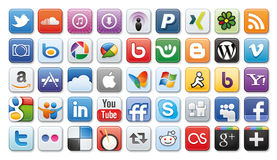 Social Media /network Icons Royalty Free Stock Photography