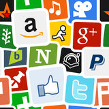 Social Media & Network Icons Background Stock Photography