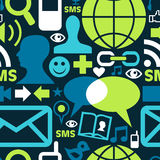 Social media network icons pattern Royalty Free Stock Image