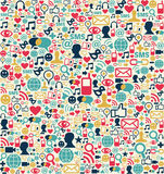 Social media network icons pattern stock illustration