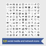 Social media and network icons Stock Photography