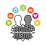 Social media network icons Stock Images