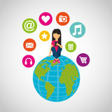 Social media network icons Royalty Free Stock Image