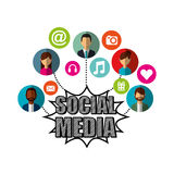 Social media network icons Royalty Free Stock Images