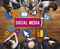 Social Media Network Internet Connection Concept Royalty Free Stock Images