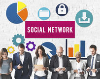 Social Media Network Internet Connection Concept Royalty Free Stock Photography