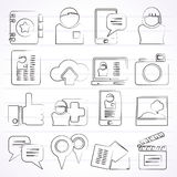 Social media, network and internet icons Stock Photos
