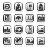 Social media, network and internet icons Stock Images