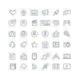 Social media, network line vector icons set Royalty Free Stock Photo